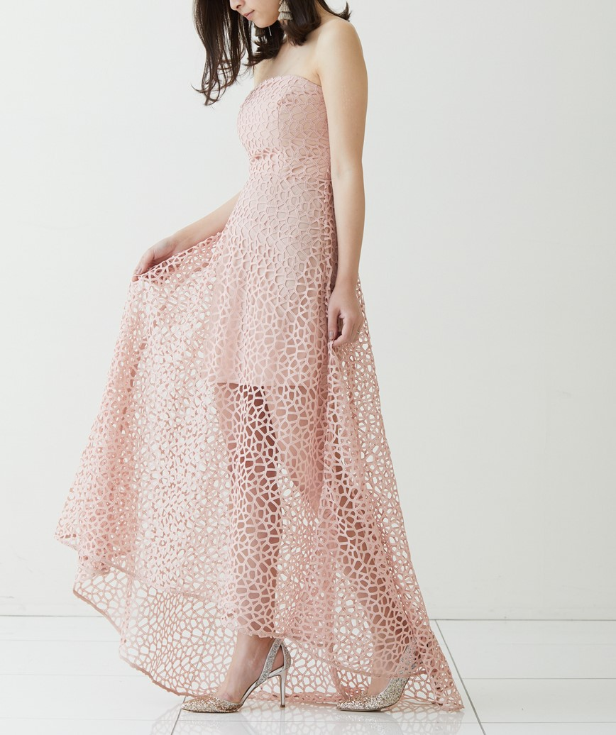 ロングテールベアドレス-ブラッシュピンク-M