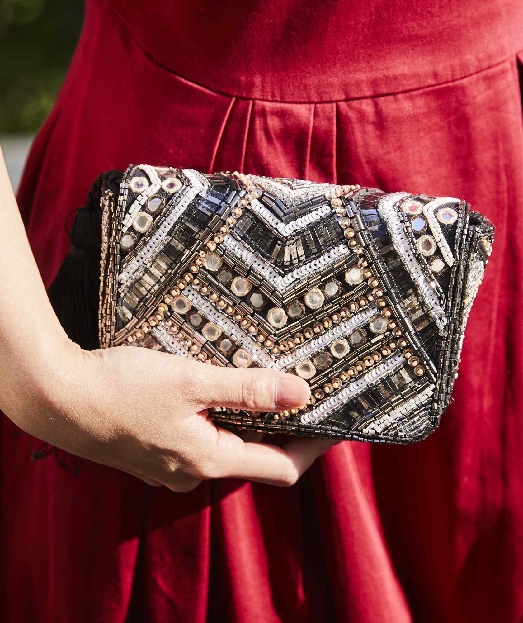 Bijou Tassel Clutch bag