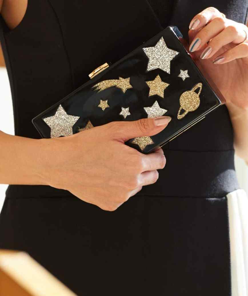 Black Star Box Clutch bag