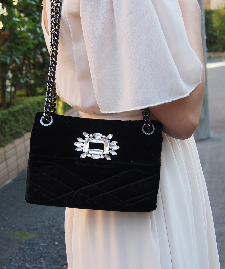 Black Velvet clutch bag