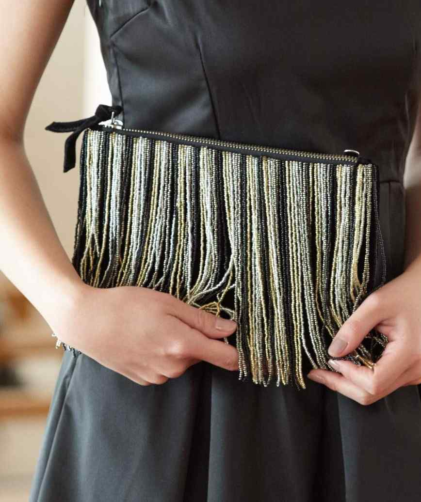 Fringe Sequins Clutch bag