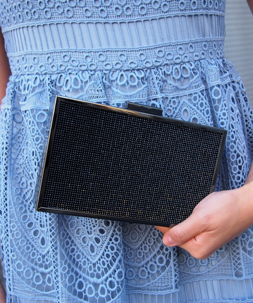 Pins square Clutch bag - Black