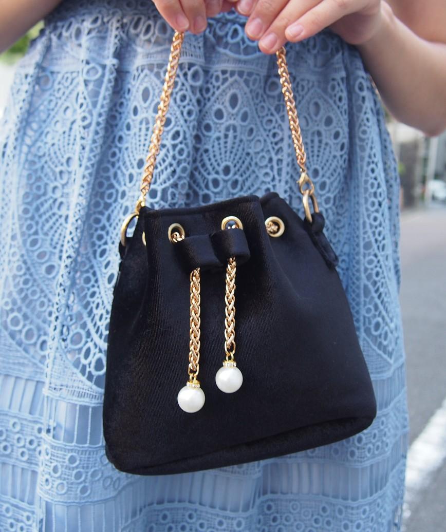 Velor Purse bag-Black