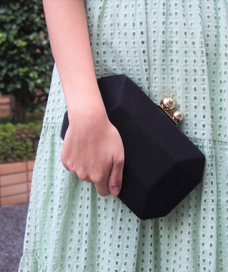 Simple Satin Cluth bag-Black