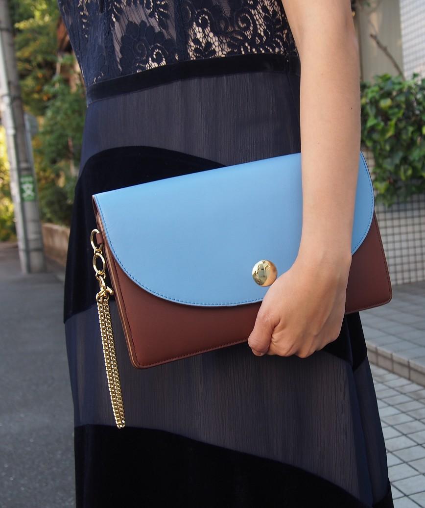 Blue Brown Clutch bag