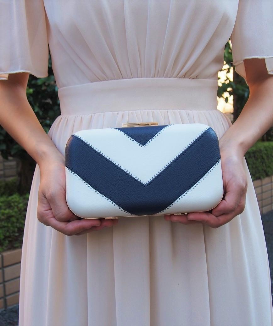 Stripe Clutch bag