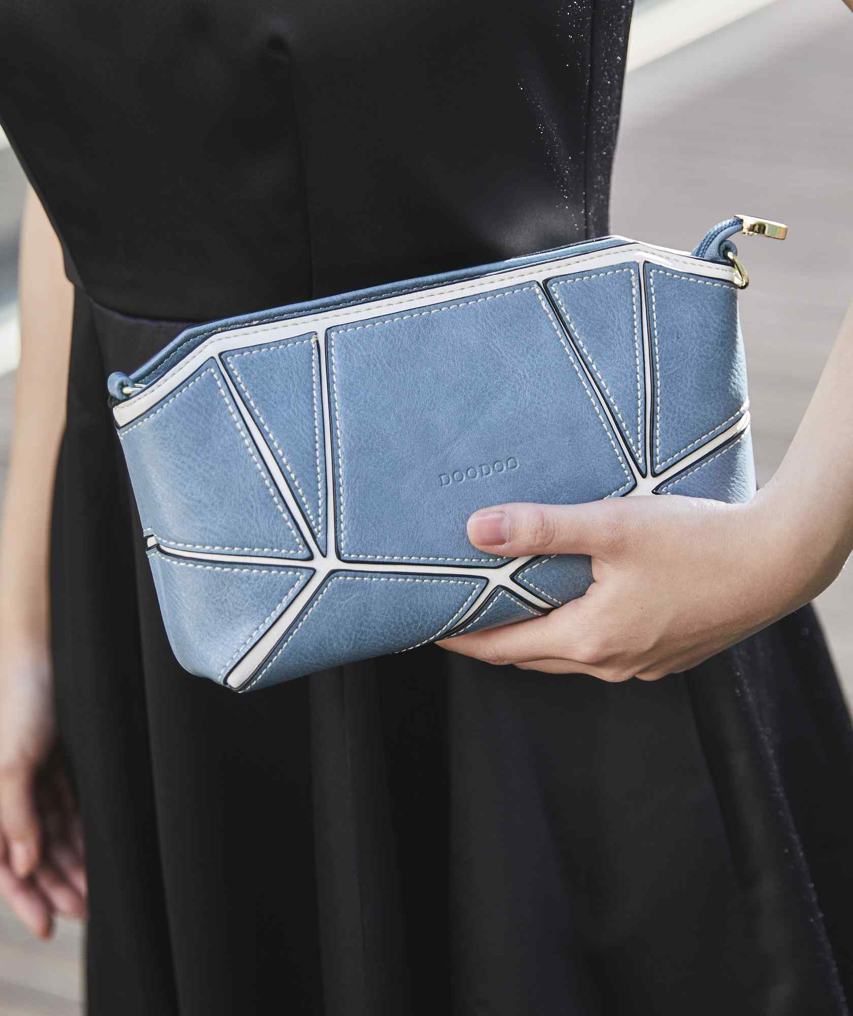Multi Block Hand Clutch bag