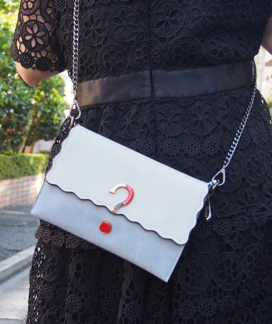 Center motif Leather bag