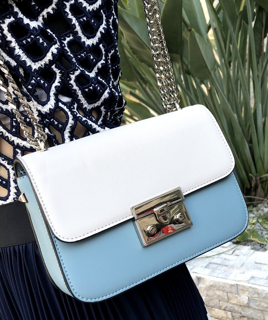 Two tone Leather bag