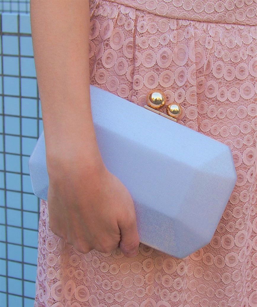 Simple Satin Cluth bag-Silver