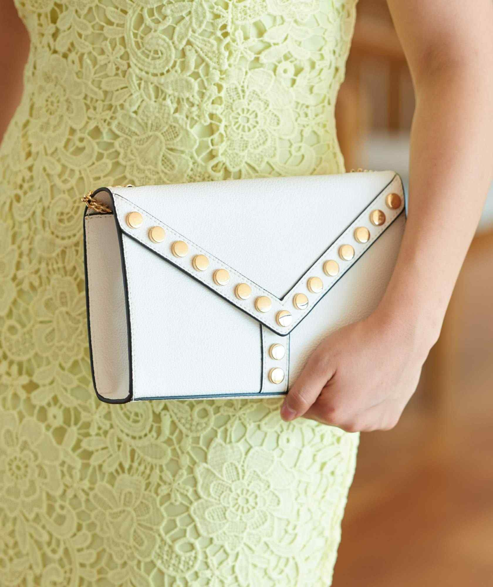 White Square Clutch bag