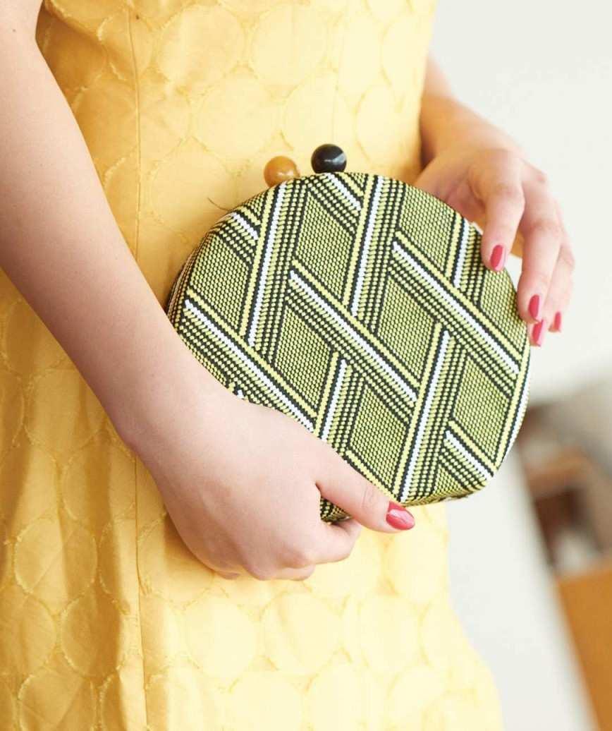 Yellow Pattern Clutch bag