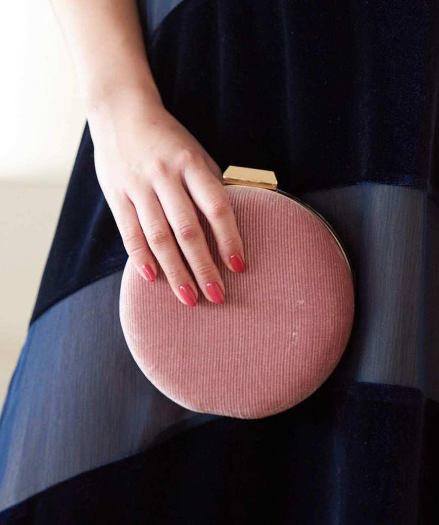 Pink Velvet Clutch bag