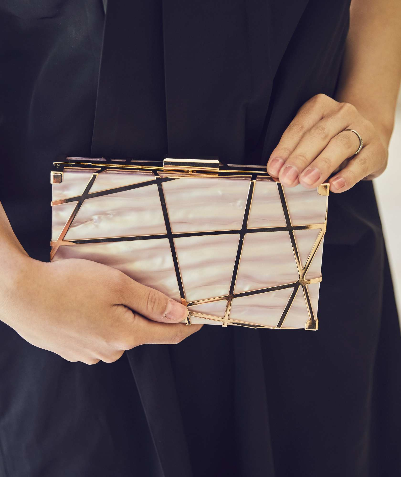 Lazer Convertible Clutch bag-Pink