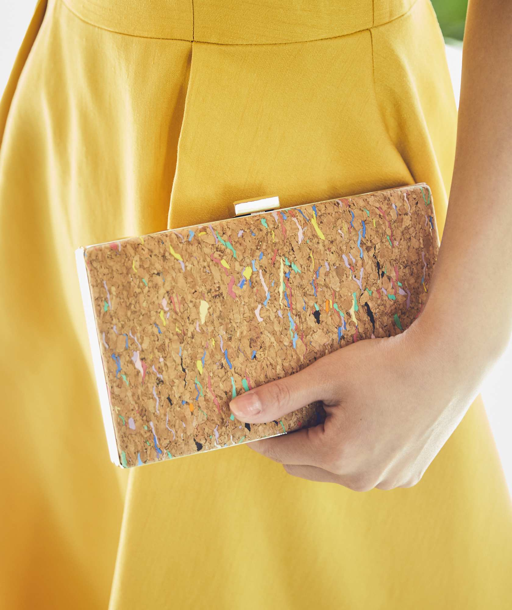 Cork Multi Box Clutch bag