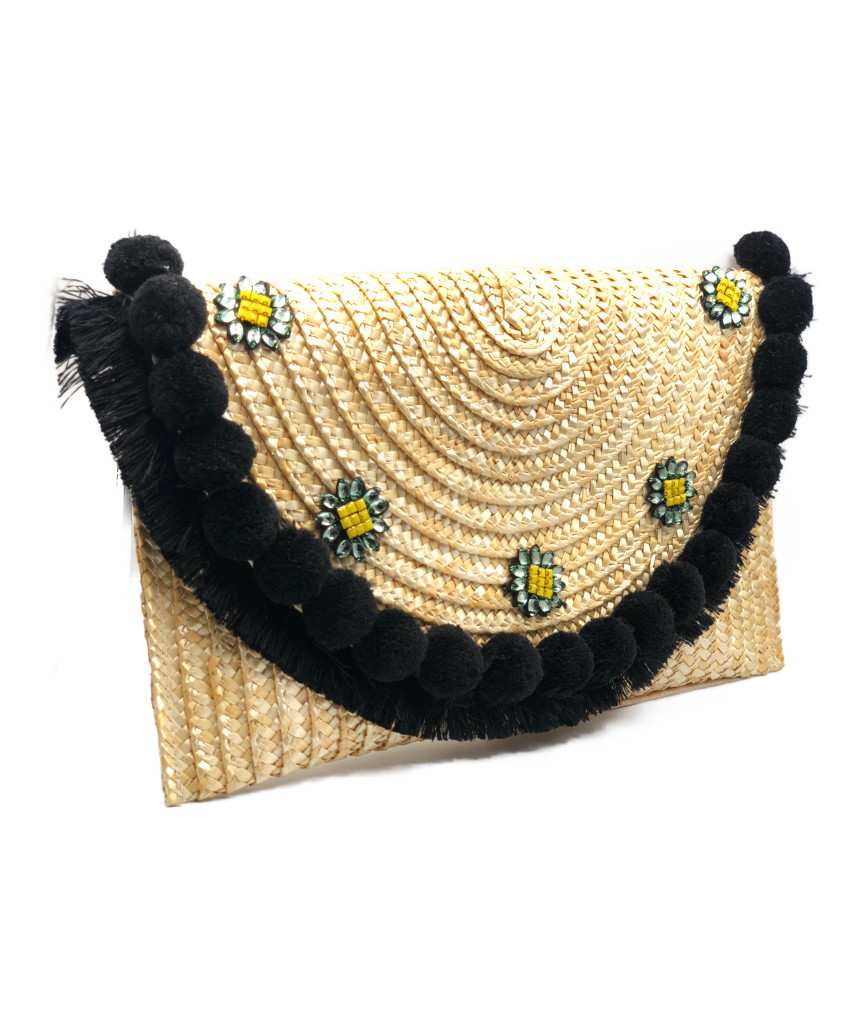 Straw Natural clutch bag