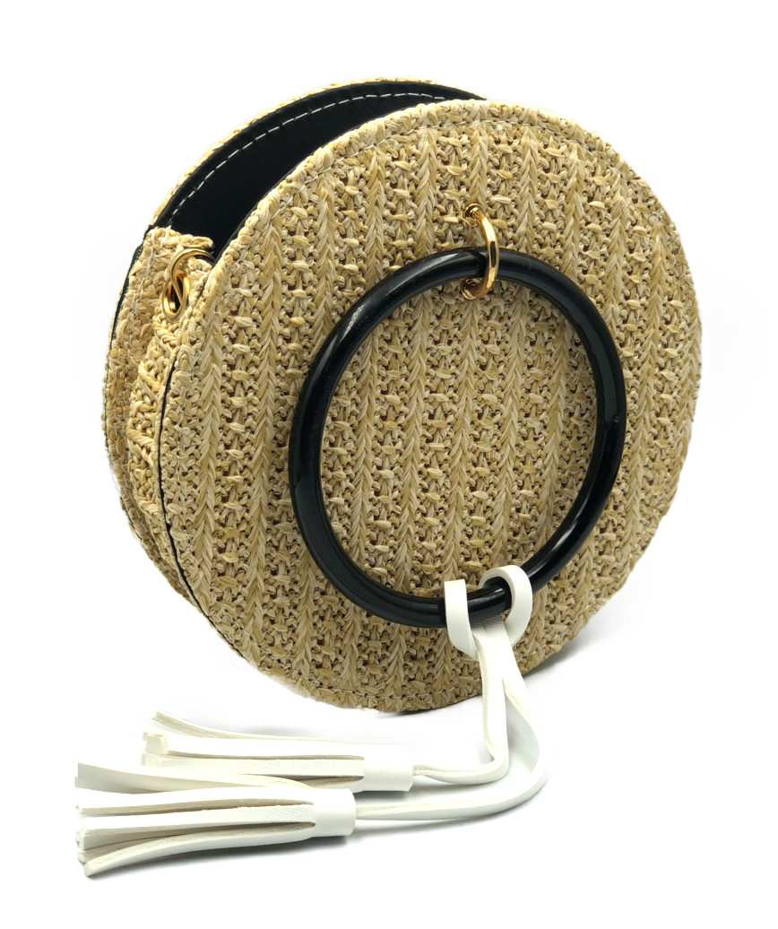 Round Straw Crossbody bag - Natural