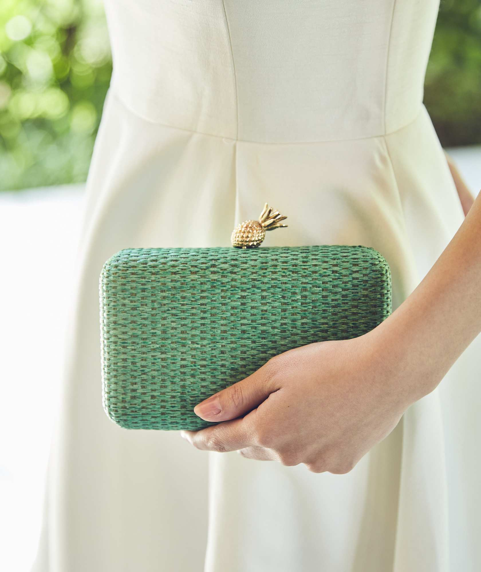 Pineapple green Cluth bag
