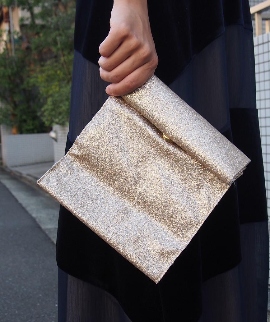 Square Gold Clutch bag