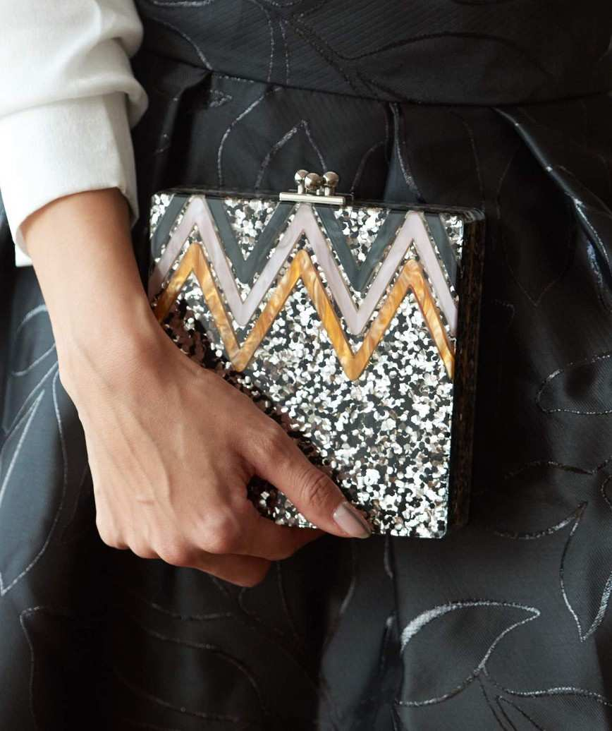 Silver Box Clutch bag