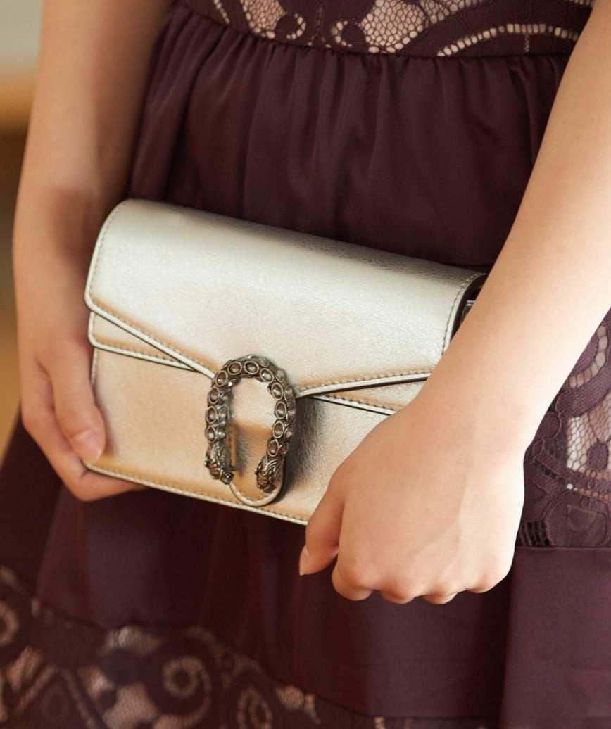 Silver Motif Clutch bag