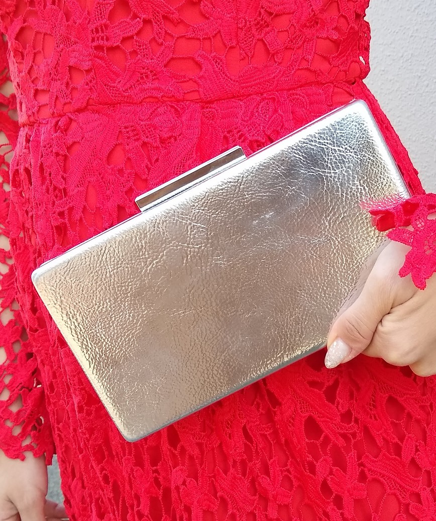 Silver Rimless Clutch bag