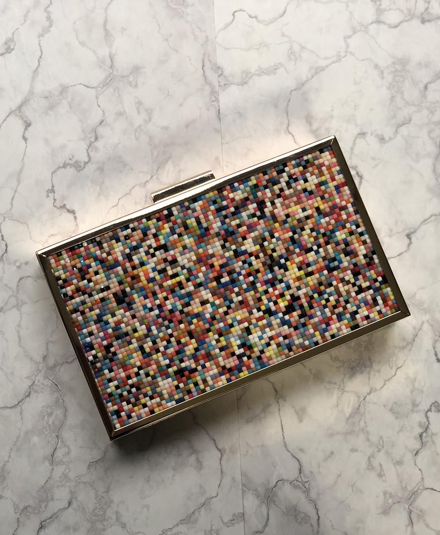 Pins square Clutch bag - Multi