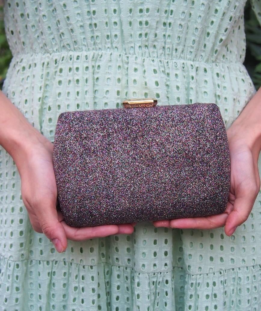 Lame Multi square Clutch bag