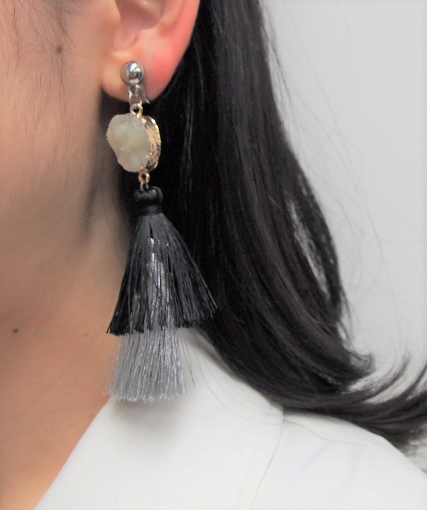 Stone Fringe Earrings