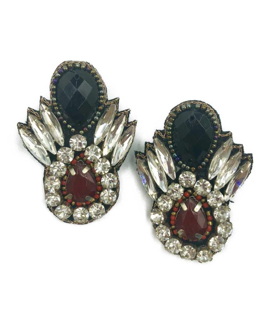 Black Feather motif Earrings