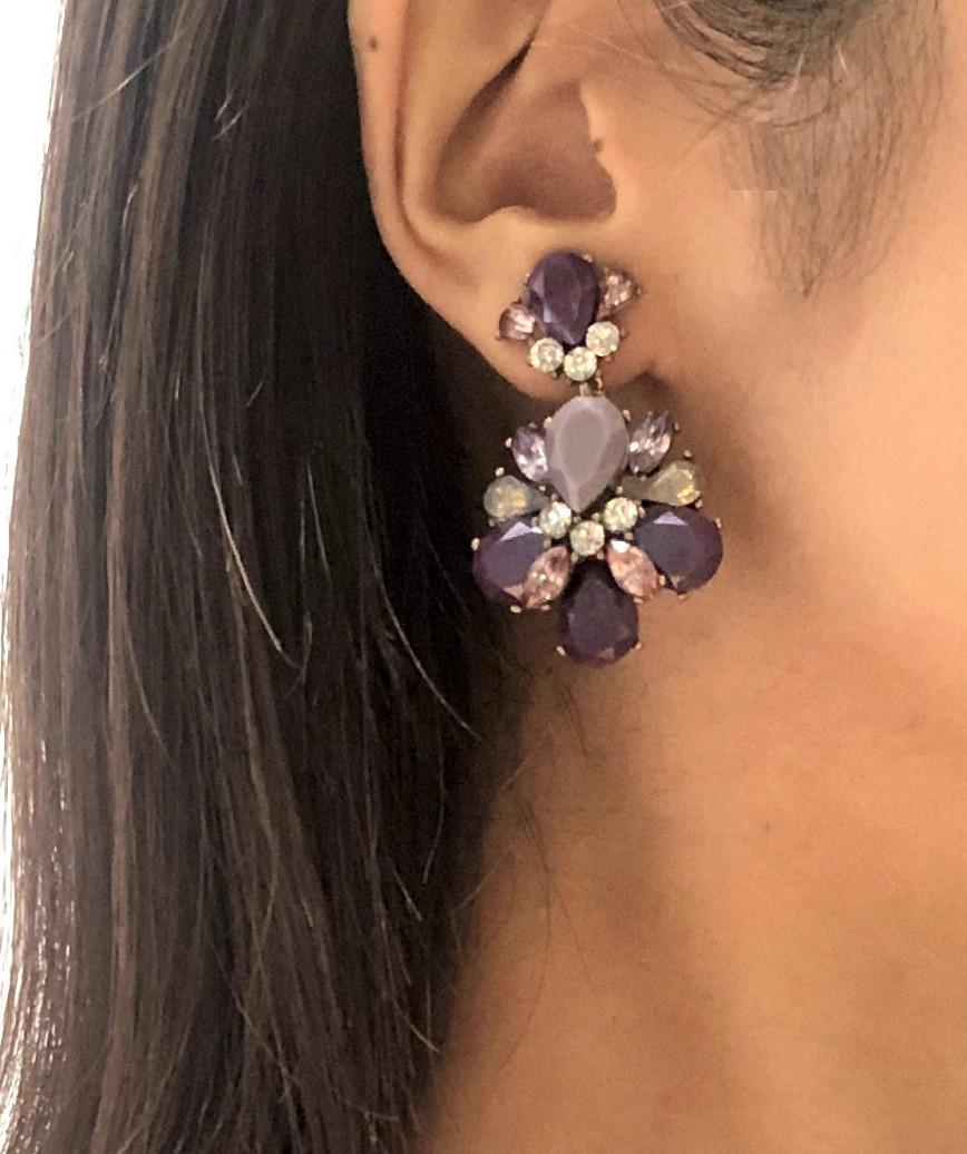 Multi Parple Bijou Earrings