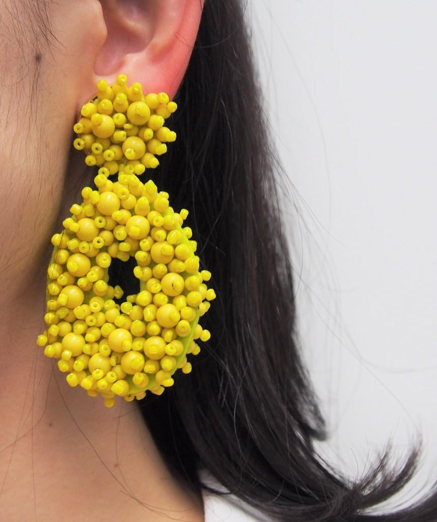 Melayna Drop Earrings-Yellow