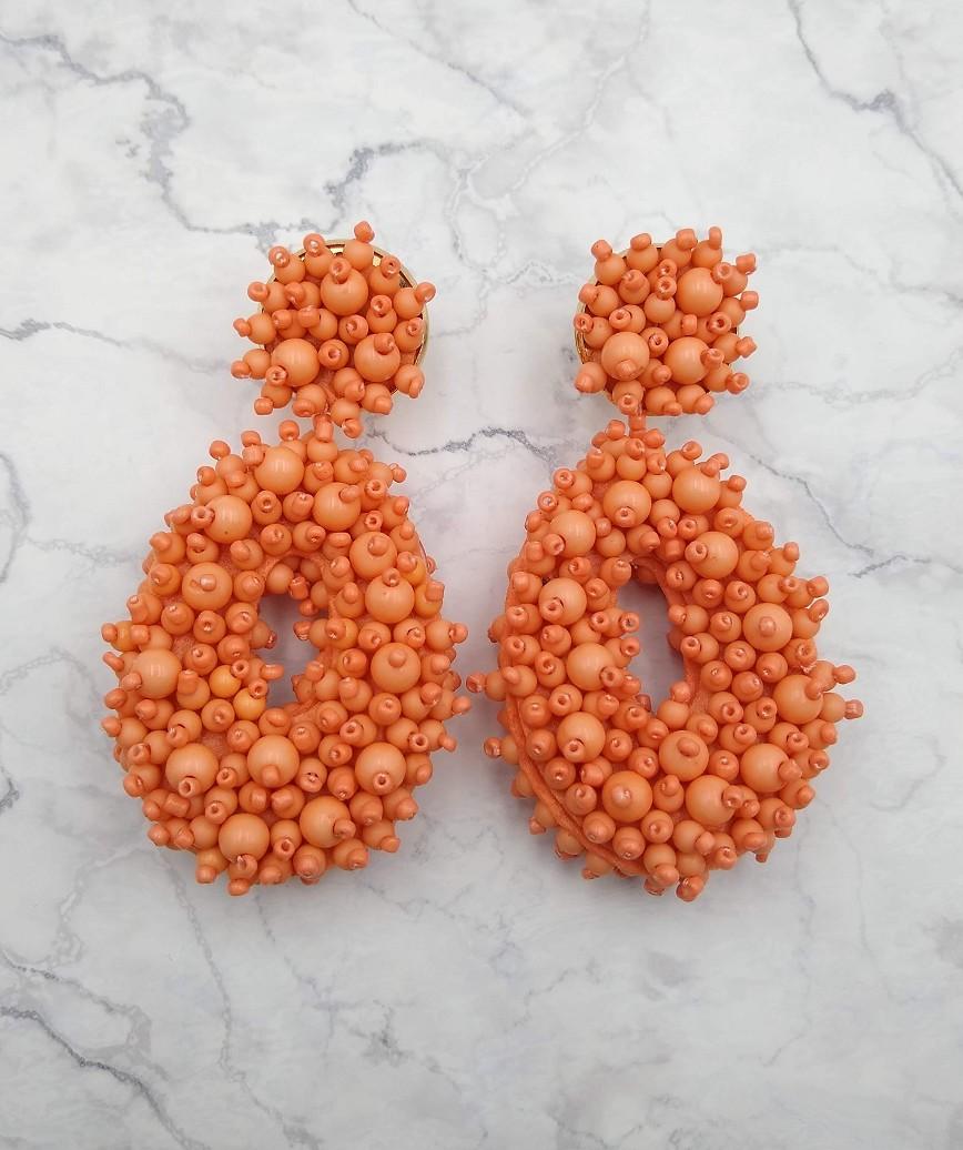 Melayna Drop Earrings-Pink