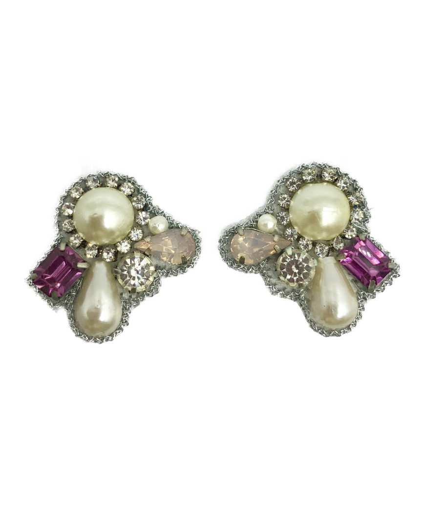 Petit Bijoux Pearl Earrings-Pink