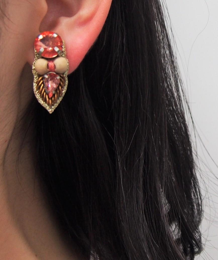 Pink Wood Petit Earrings