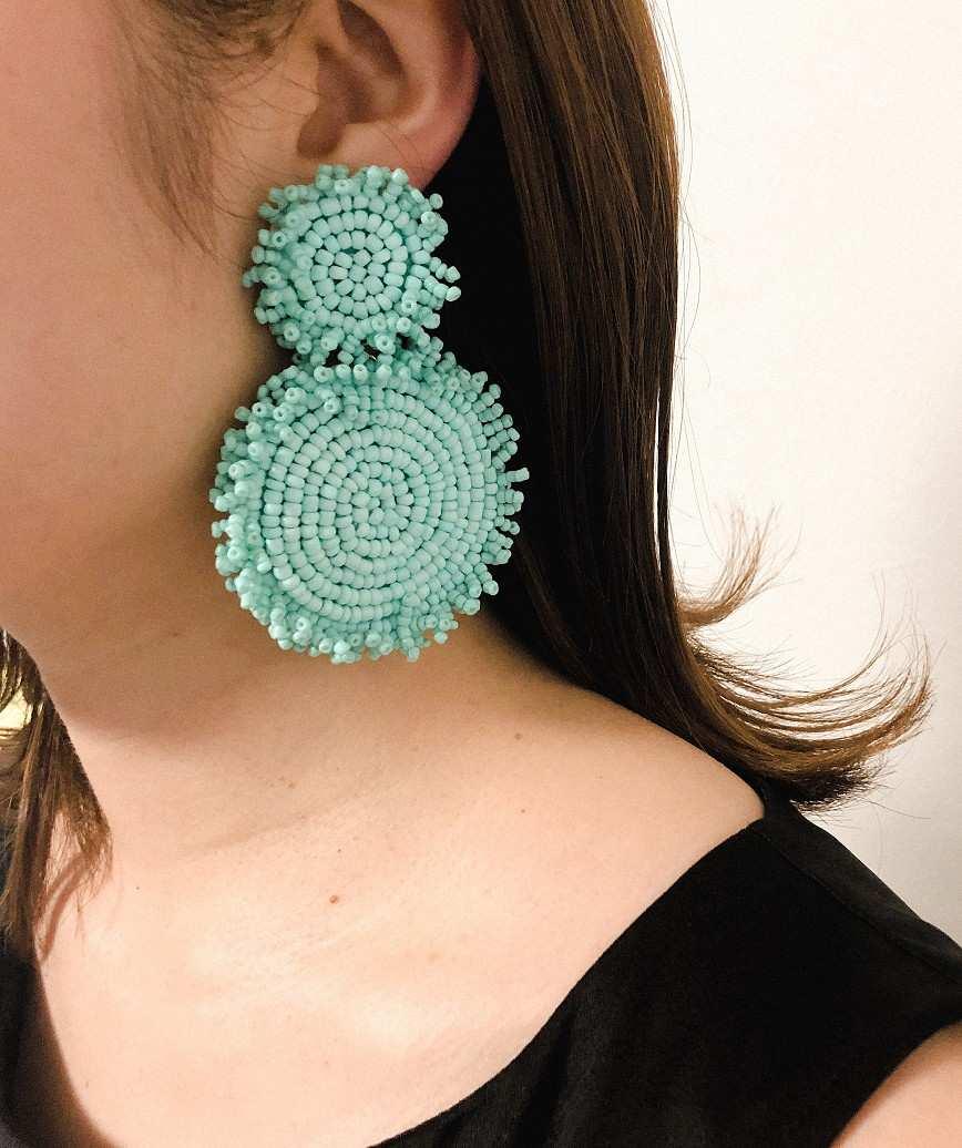 Rianne Drop Earrings-Green