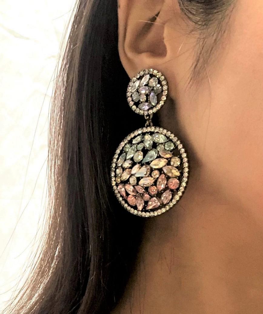 Colorful Circle Earrings