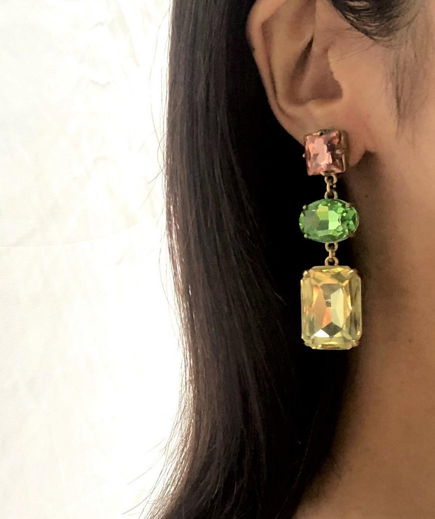 Asymmetrical Color Earrings