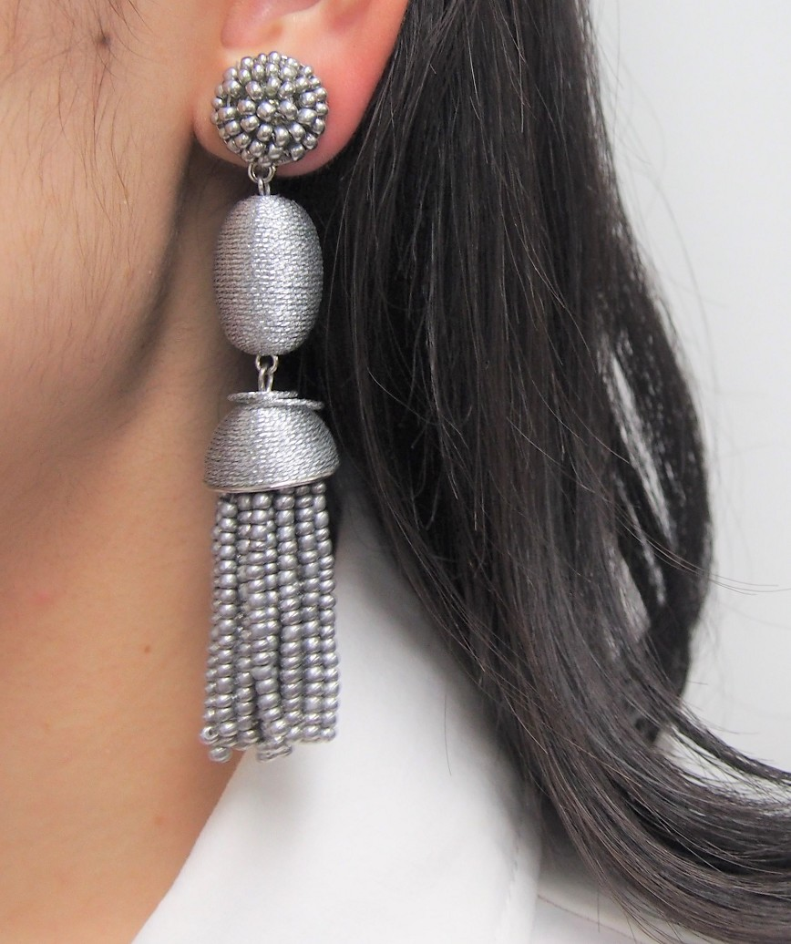 Tamsin Drop Earrings - Silver