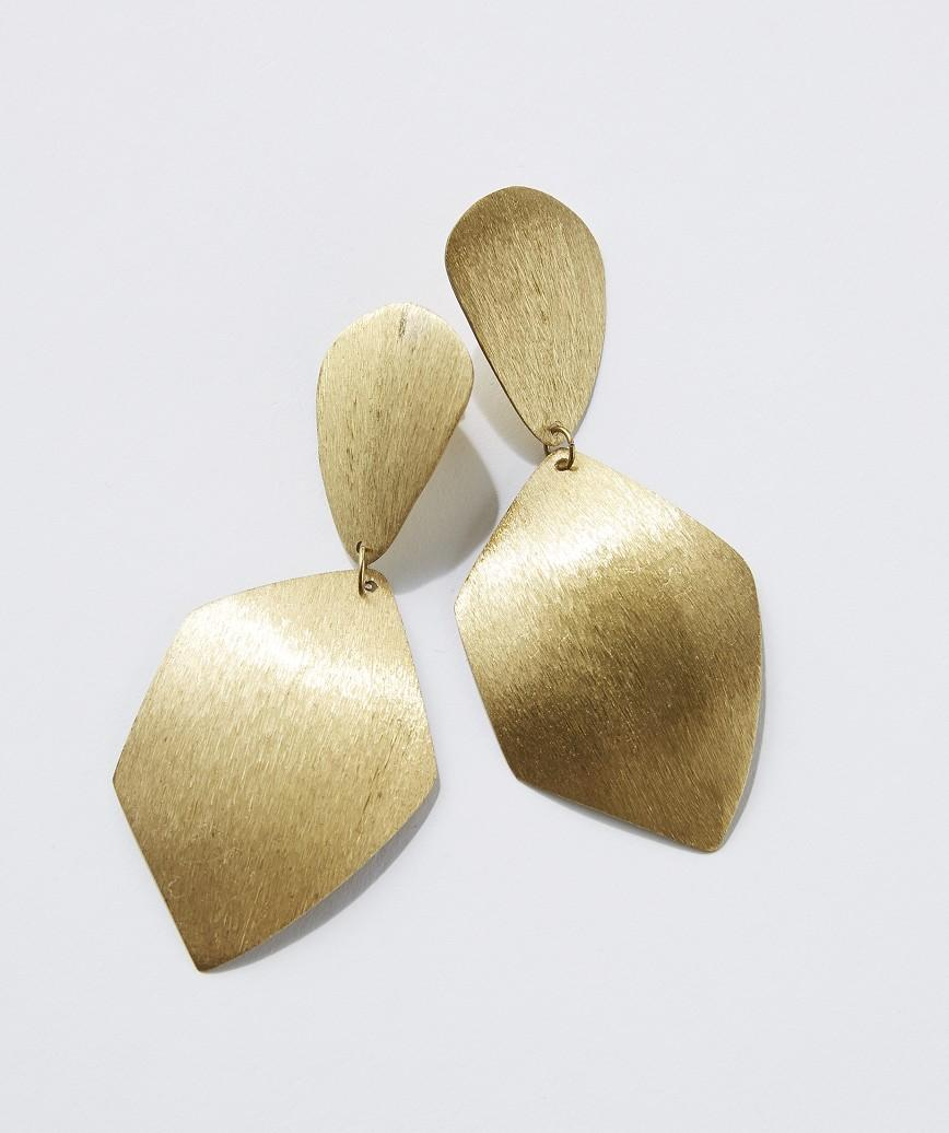 Gold Big Drop Earrings