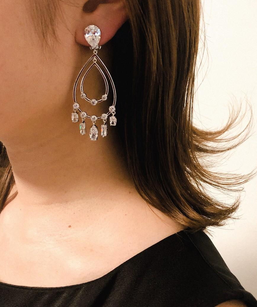 Chandelier Earrings-Siliver