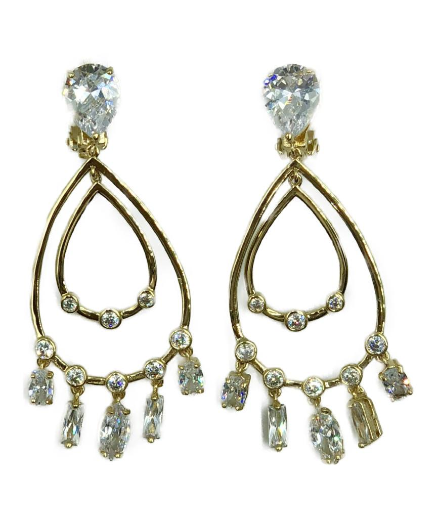 Chandelier Earrings-Gold