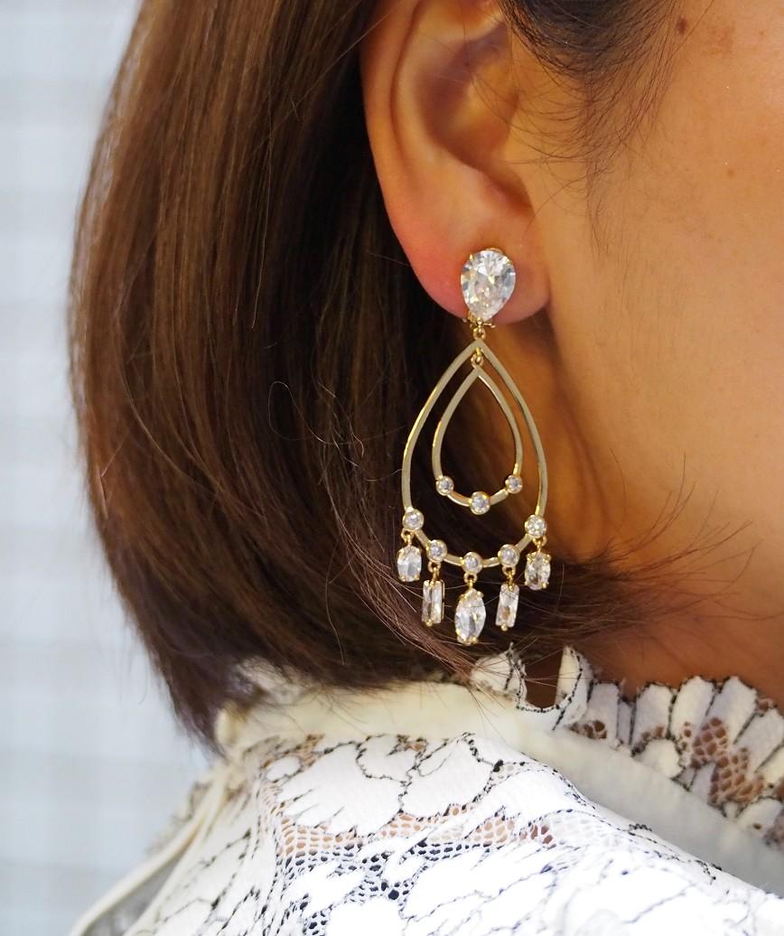 Chandelier Earrings-Gold
