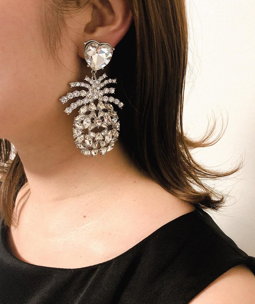 Pineapple Crystal Earrings