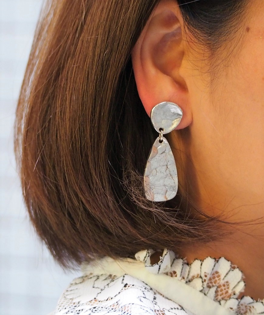 Silver Mirror Earrings