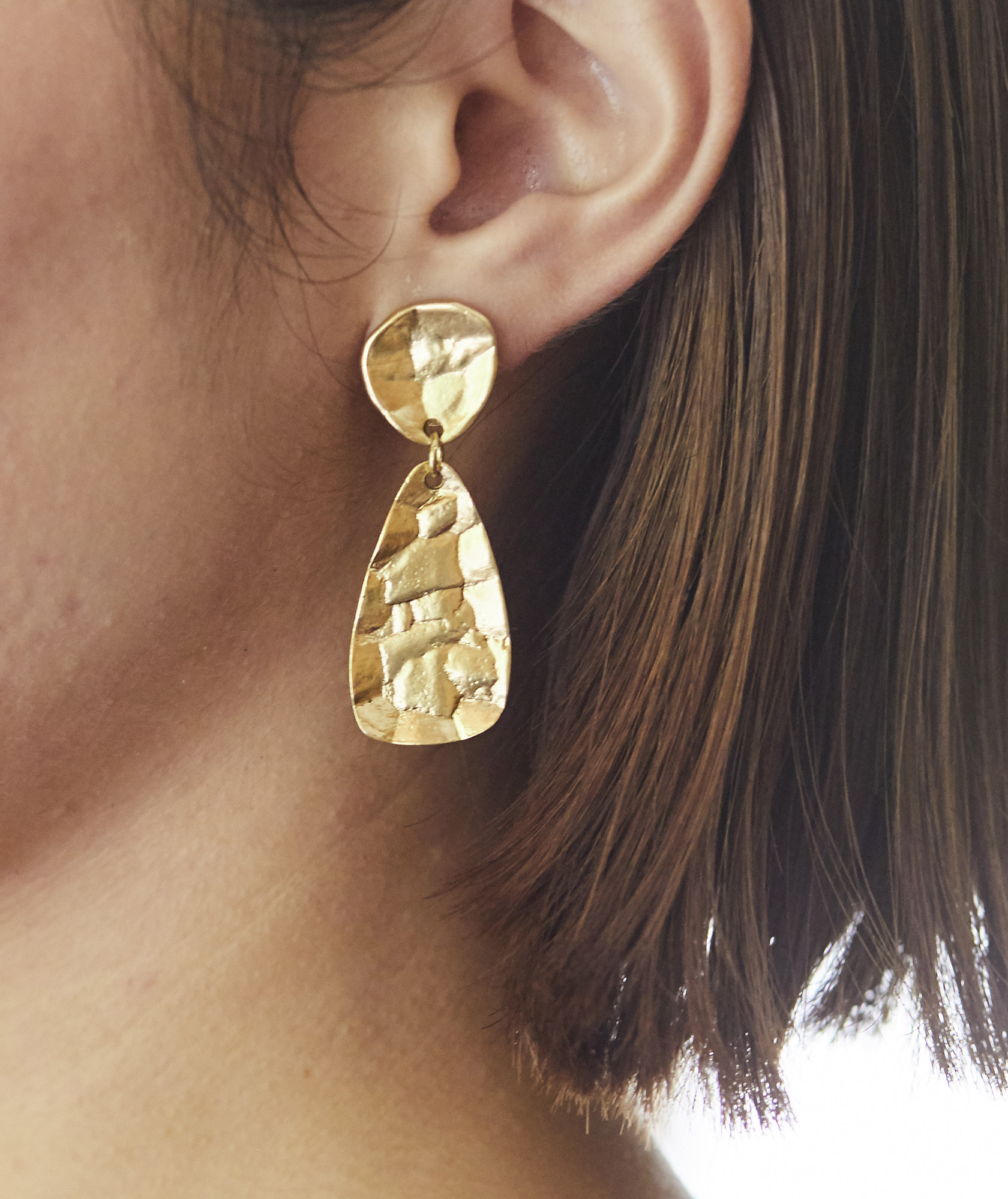 Gold Mirror Earrings-Gold