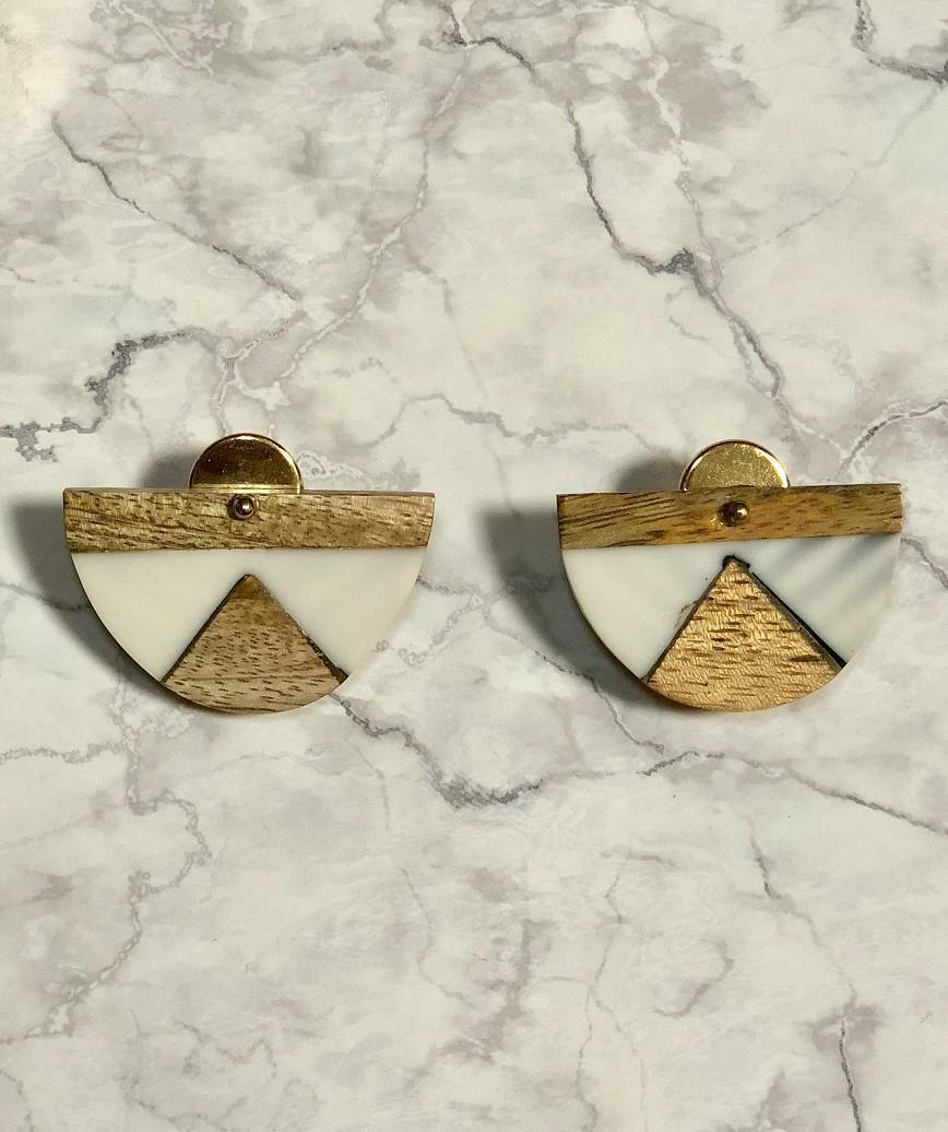Wood Harf Earrings