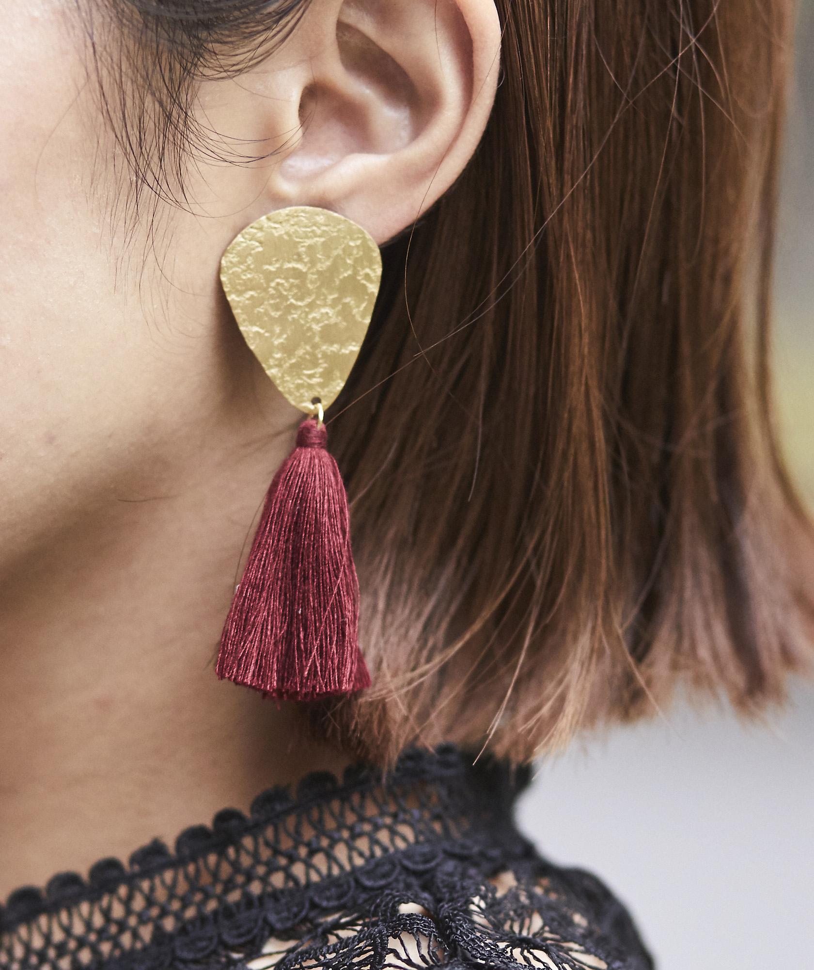 Gold Fringe Earrings