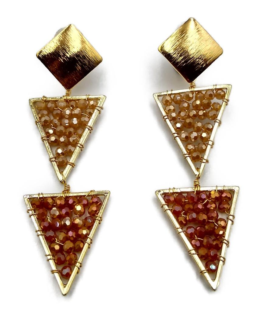 Triangle Beads Earrings