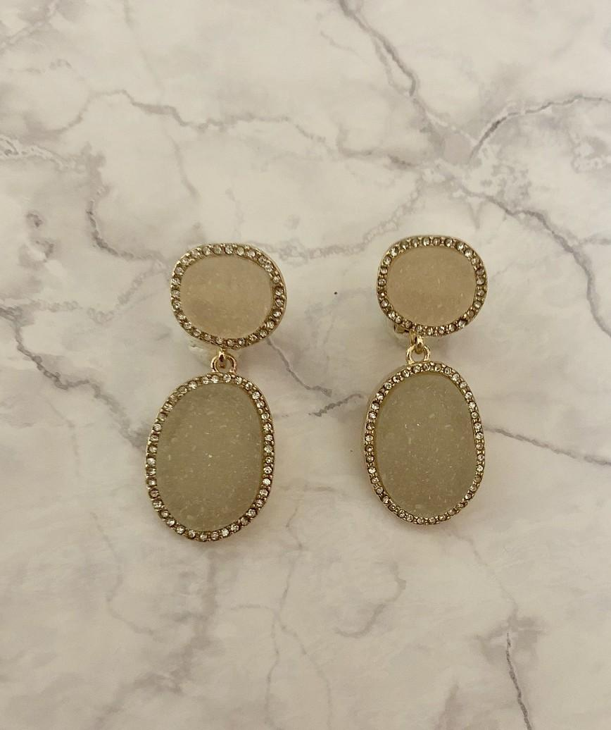 Stone Drop Petit Earrings